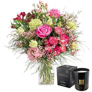 Fleurs et cadeaux Berlingot et sa bougie parfumée