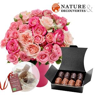 Fleurs et cadeaux Flora délice et son vin chaud Nature & Découvertes