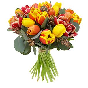 Bouquet de fleurs Brassée de tulipes