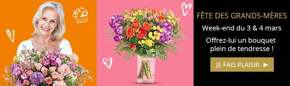 Bouquets pour la Fête des grands-mère 4 mars
