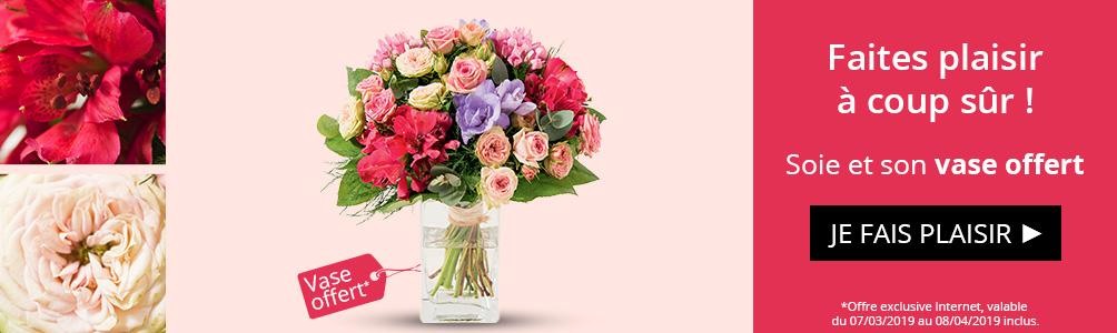 Soie et son vase offert