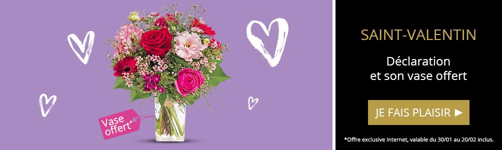 Declaration et son vase offert