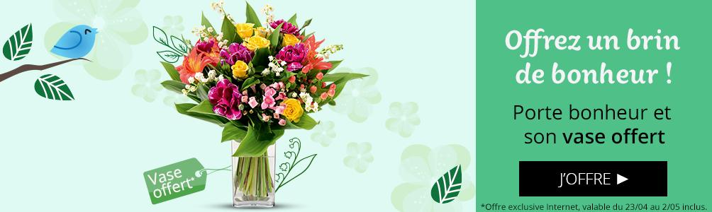 Porte Bonheur et son vase offert