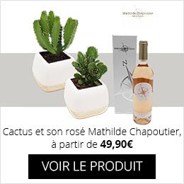 Cactus et son rosé Mathilde Chapoutier