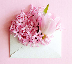 idées de messages livraison bouquet de fleurs
