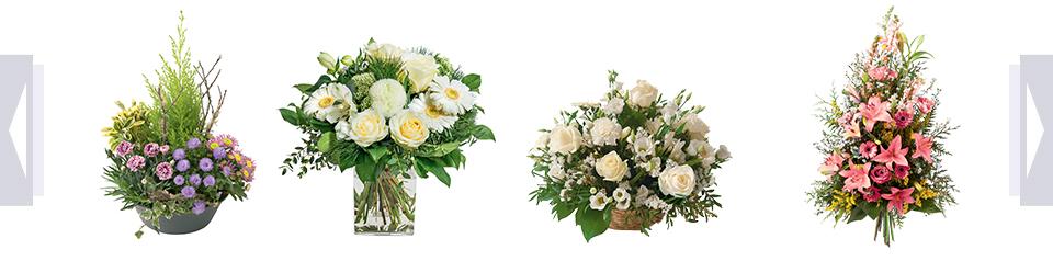 Fleurs deuil : gerbes et bouquets de fleurs enterrement