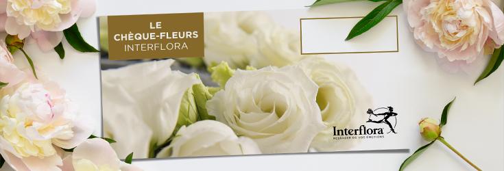 Les chèques fleurs Interflora