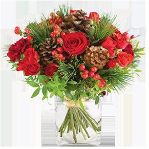 Bouquet de roses Au coin du feu