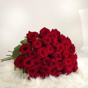 Bouquet de roses A la folie Saint-Valentin