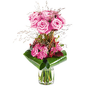 Bouquet de roses Audace rose