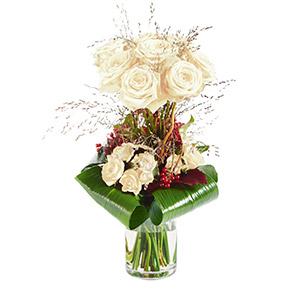 Bouquet de roses Audace blanc Mariage invité