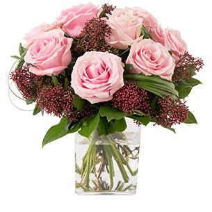 Bouquet de roses Capri rose Naissance