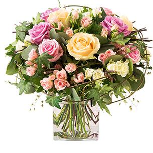Bouquet de roses Charme Remerciements