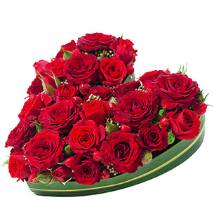 Bouquet de roses Cupidon Amour