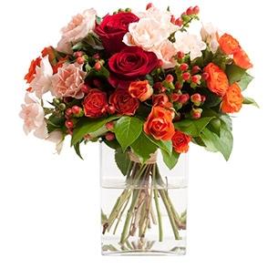 Bouquet de roses Dédicace Amour