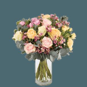Bouquet de roses Délicatesse Bon rétablissement