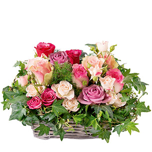 Bouquet de roses Esquisse Anniversaire