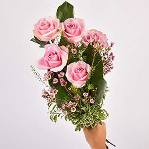 Bouquet de roses Flamingo Amour