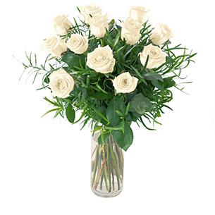 Bouquet de roses Glossy blanc Mariage invité