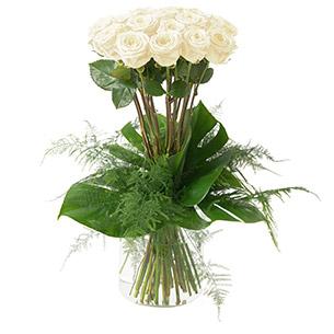 Bouquet de roses Idylle blanc Anniversaire