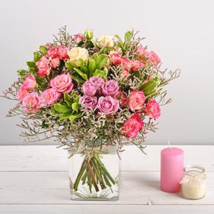 Bouquet de roses Lollipop Remerciements
