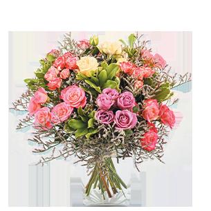 Bouquet de roses Lollipop Collection Bon rétablissement