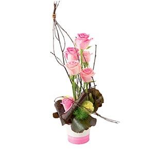 Bouquet de roses Malice Naissance