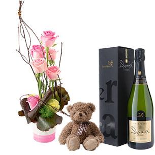 Bouquet de roses Heureux événement Naissance