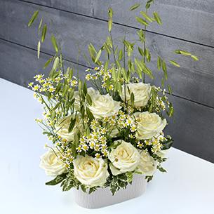 Bouquet de roses Nid d'ange Mariage invité