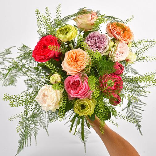 Bouquet de roses Ô de rose