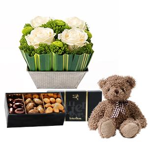 Bouquet de roses Félicitations ! Naissance