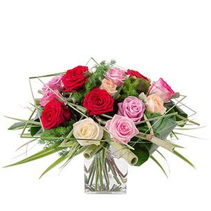 Bouquet de roses Poésie Remerciements