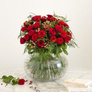 Bouquet de roses Passionnément Saint-Valentin