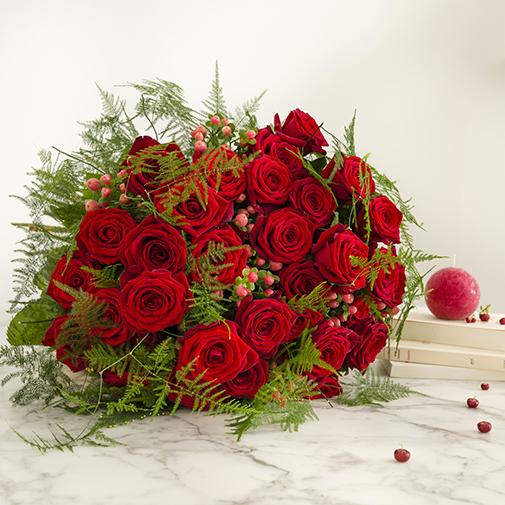 Bouquet de roses Passionnément