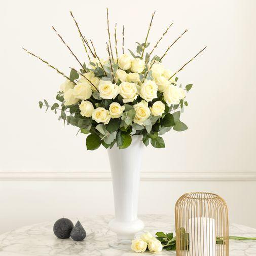 Bouquet de roses Pureté