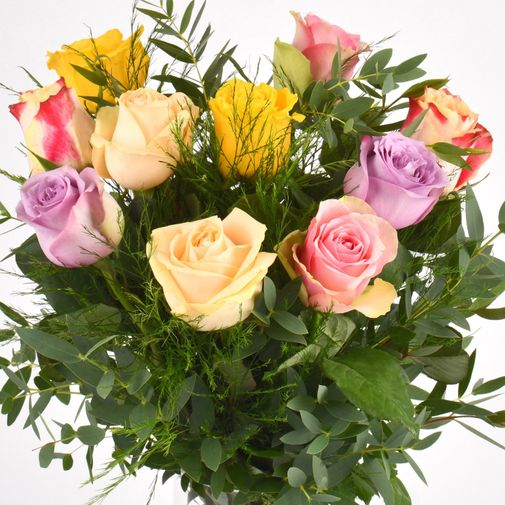 Bouquet de roses Rainbow