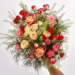 Bouquet de roses Rose cerise Remerciements