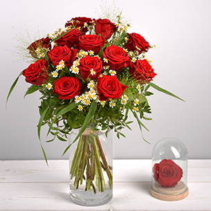 Bouquet de roses Rouge idylle Amour
