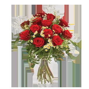 Bouquet de roses Rouge idylle Amour