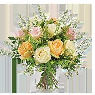 Bouquet de roses Rose melba Mariage