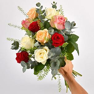 Bouquet de roses Rouge pastel Collection Hommes