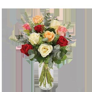 Bouquet de roses Rouge pastel Remerciements