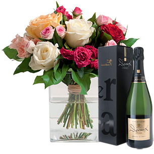 Bouquet de roses Instant de fête Naissance
