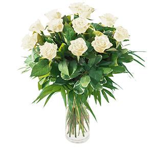 Bouquet de roses Tonic blanc Amour