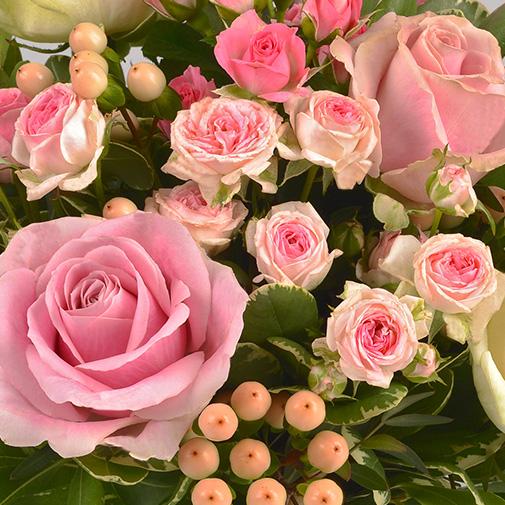 Bouquet de roses Vanille fraise et son ourson Harry