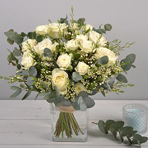 Bouquet de roses Vert coton Mariage invité
