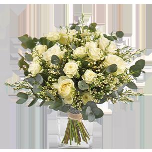 Bouquet de roses Vert coton Remerciements