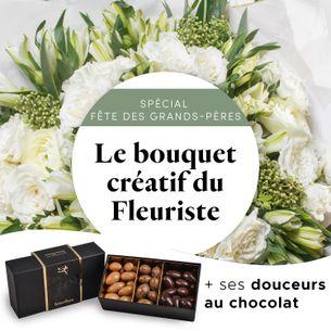 Bouquet de fleurs Le bouquet gourmand du fleuriste spécial Fête des grands pères
