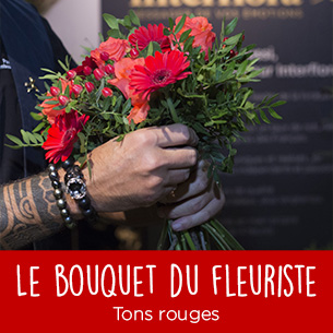 Bouquet de fleurs Bouquet du fleuriste tons rouges Anniversaire