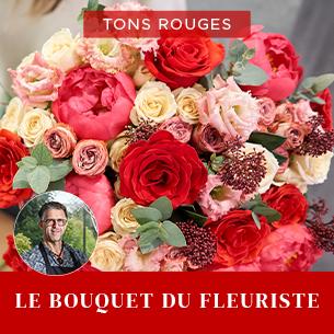 Bouquet de fleurs Bouquet du fleuriste Rouge Muguet